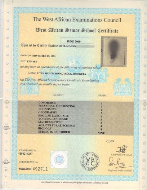 neco template here is what original waec certificate looks like ngscholars