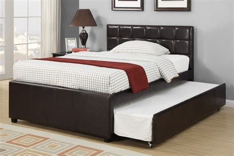 Home youth twin bed twin bed trundle faux leather item number f9215t
