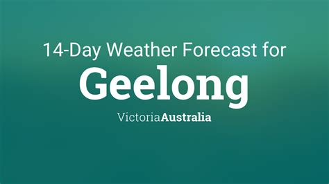 geelong victoria australia  day weather forecast