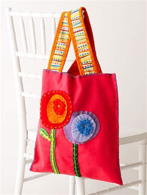 easy tote bag sewing pattern free free bag pattern simple felt tote crafts pinterest
