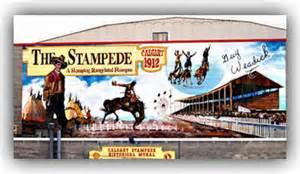 Wall Murals Calgary Calgary Stampede Mural