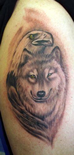 tattoo eagle and wolf eaglewolf by jamie cross tattoonow
