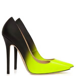 Anouk neon yellow and black degrad 233 shoes jimmy choo from cricket