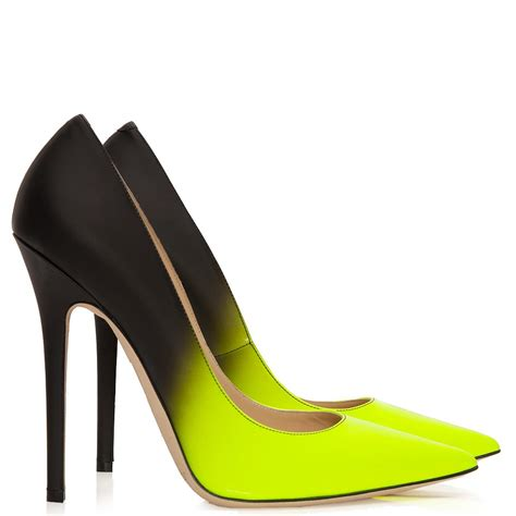 neon shoes anouk neon yellow and black degrad 233 shoes jimmy choo