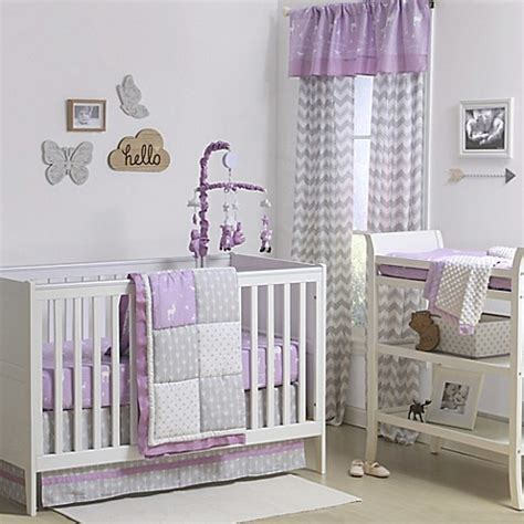 The Peanut Shell 174 Woodland Patchwork Crib Bedding Purple And Grey Crib Bedding