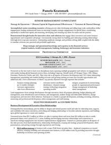 Consulting Resumes Exles by Management Consulting Resume Exle For Executive