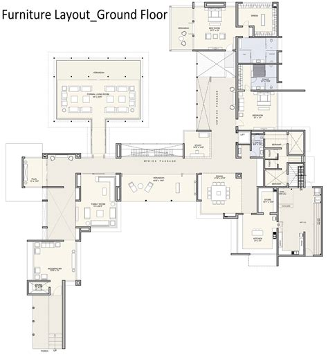 house layout furniture ground floor furniture layout contemporary house in
