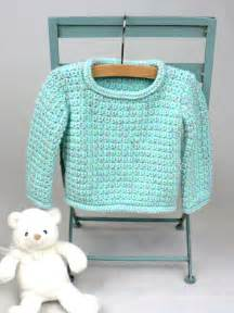Baby pullover sweater crochet pattern favecrafts com