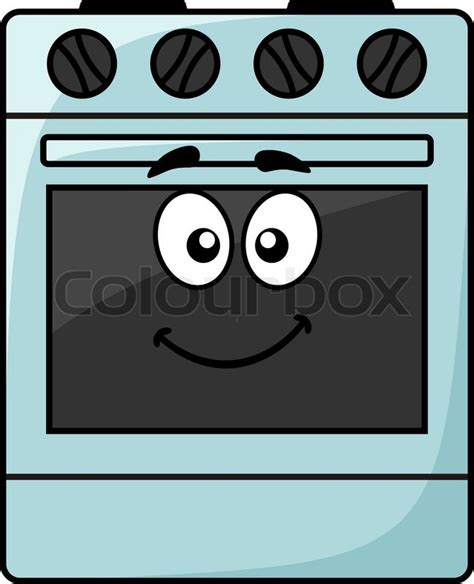 Kitchen Design Jobs by Cartoon Kitchen Appliance A Happy Smiling Freestanding