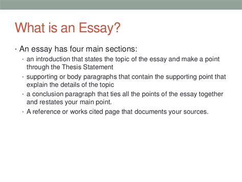 what is the purpose of a thesis what is an essay a college essay