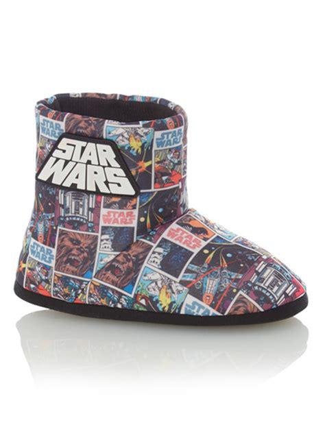 sainsburys slipper boots all boy s clothing boys black wars slipper boots tu