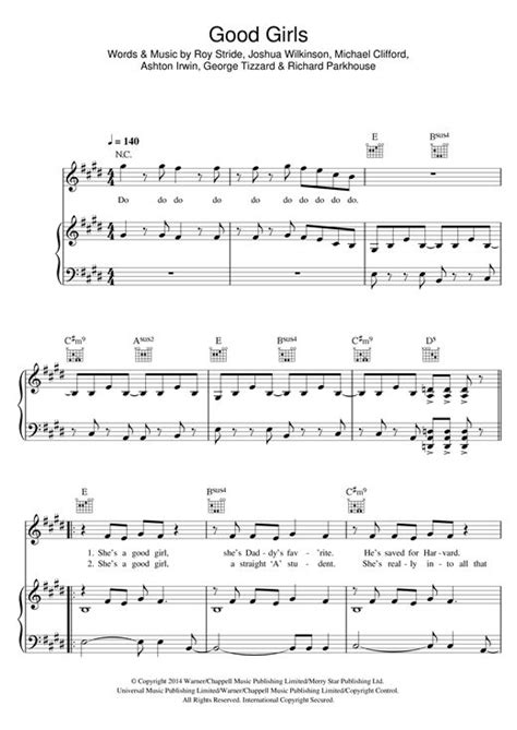 Learn to play 5 Seconds of Summer Good Girls sheet music