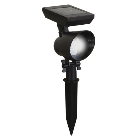 solar flood lights lowes shop portfolio black solar powered led flood light at