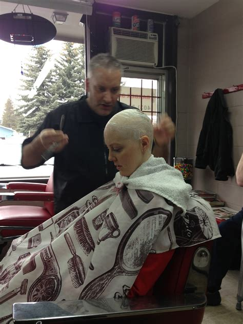 old lady headshave head shave bald women headshave young lady old cancer highly recommended a straight