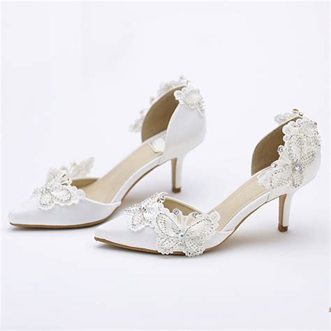 Kitten Heel Wedding Shoes by Aliexpress Buy Kitten Heel Pointed Toe Bridal Shoes
