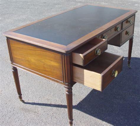 white caign desk kittinger desk