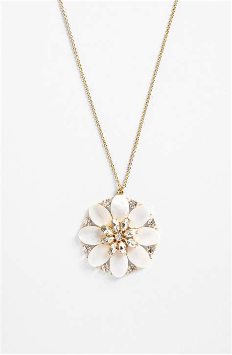 kate spade bungalow bouquet pendant necklace in beige