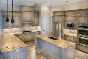 Award Winning Kitchen Design Lapidus Gold Countertops Zsolt Granite Corporation