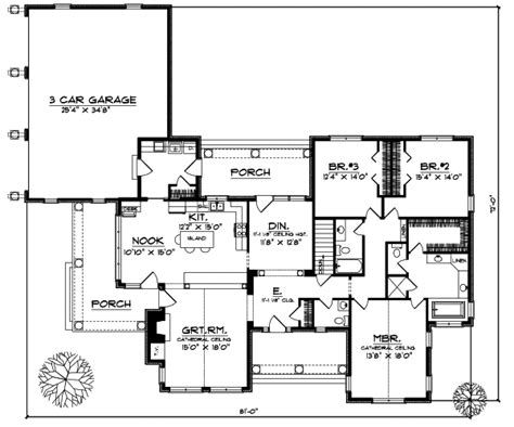 Side Garage House Plans by Rear Side Load Garage House Plans Home Design And Style
