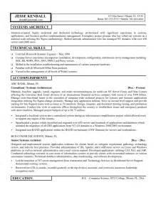 Architectural Manager Sle Resume by Doc 600776 Architecture Resume Sle Bizdoska
