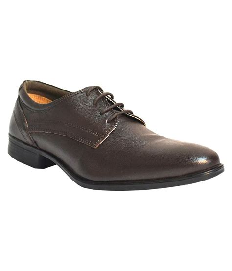 tsf brown leather lace formal shoes price in india buy