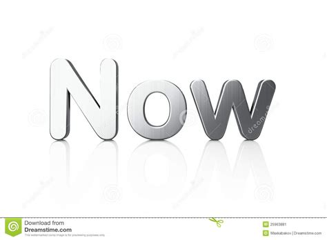 And Now A Word From by Timeline Concept 3d Word Now Stock Image Image 25963881