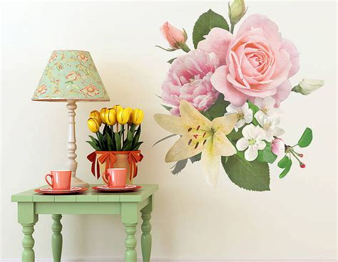 floral wall stickers vintage floral wall sticker contemporary wall stickers