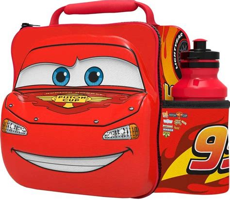 Lunch Box Set Disney Cars disney cars lightning mcqueen thermal 3d lunch bag box drink bottle set 56359 8412497563593 ebay