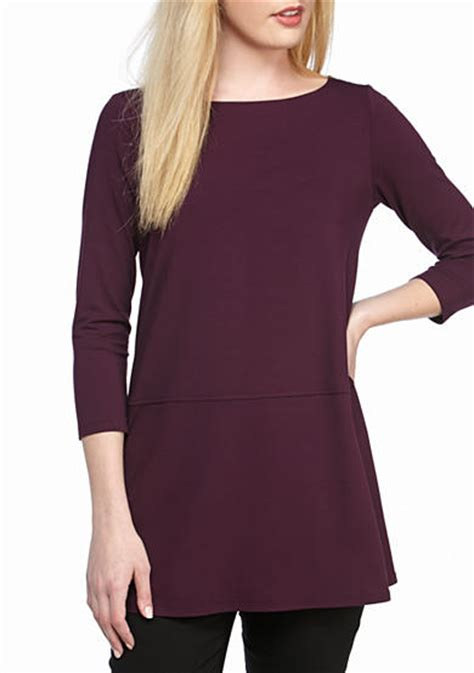 Baju Atasan Blouse Tunik Khaki Layered Necklace S Import Original tops womens purple tunics belk