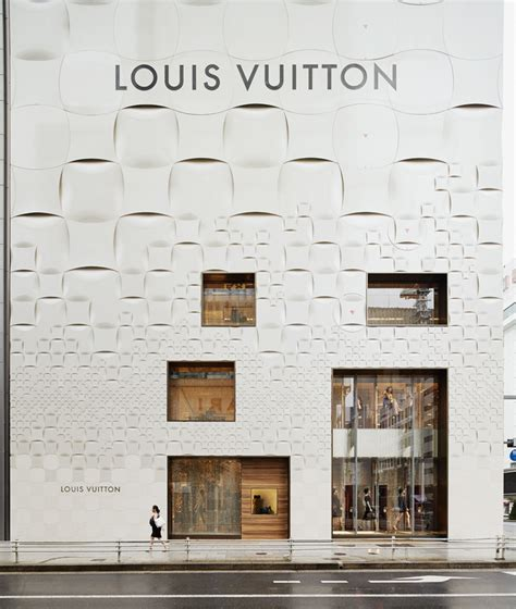store layout features jun aoki s tokyo louis vuitton store features patterned