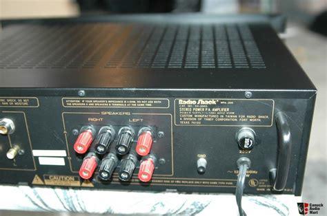 Power Lifier 200 Watt radio shack 100 watt power lifier model mpa 200 photo 330005 canuck audio mart