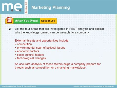 sections of marketing plan chapter 2 the marketing plan section 2 1 marketing