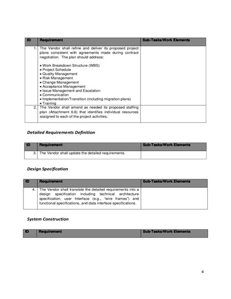 100 sle statement of work template statement of