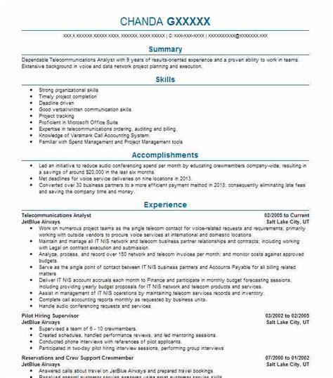 Telecom Analyst Cover Letter by 26 Operations Resume Exles In Mckinney Livecareer
