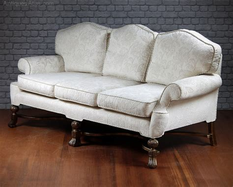 queen anne style sofa large queen anne style sofa c 1910 antiques atlas