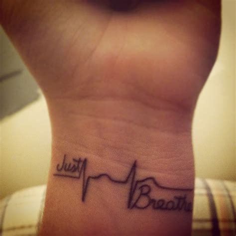 just breathe tattoo quotes