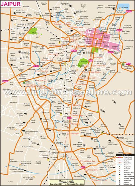 map of city of jaipur city map city map of jaipur
