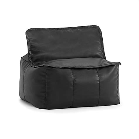 black leather square bean bag buy comfort research big joe zip it faux leather