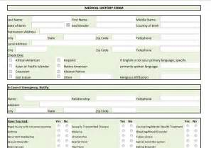 personal medication record template family history forms templates