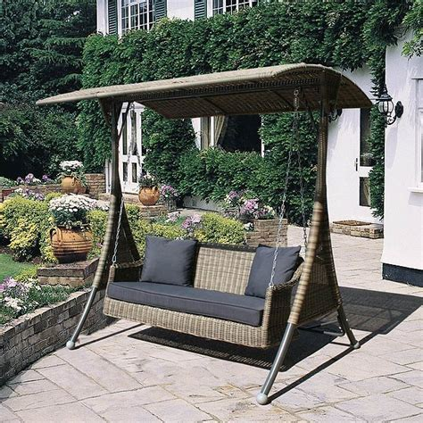 swing garden chairs uk bridgman mayfair rattan swing seat and cushions