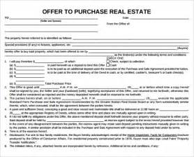 offer to purchase contract template sle offer to purchase real estate form 9 documents
