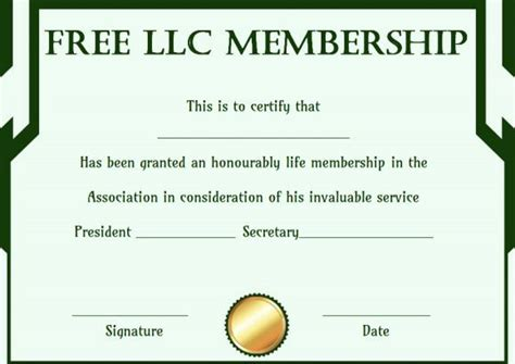 llc membership certificate template best 25 free certificate templates ideas on