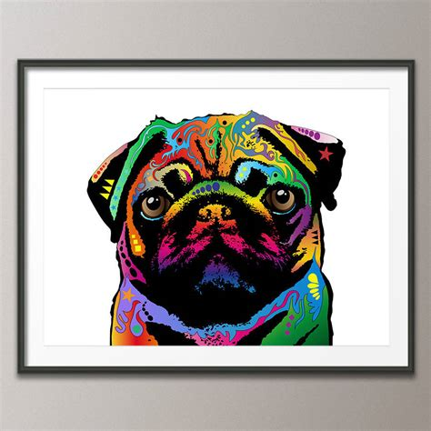 pug pop pug pop print by artpause notonthehighstreet