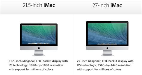 Hw Size 27 32 compare the 21 5 inch 27 inch imac recomhub