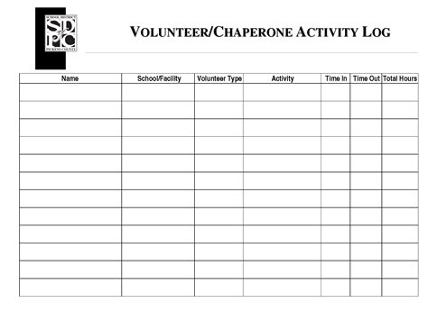 volunteer hours log template student volunteer log sheet related keywords suggestions