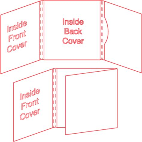 folded wallet card template cd mailers and wallets 6 panel series template