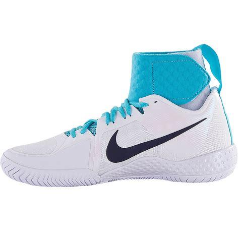 nike flare s tennis shoe white blue