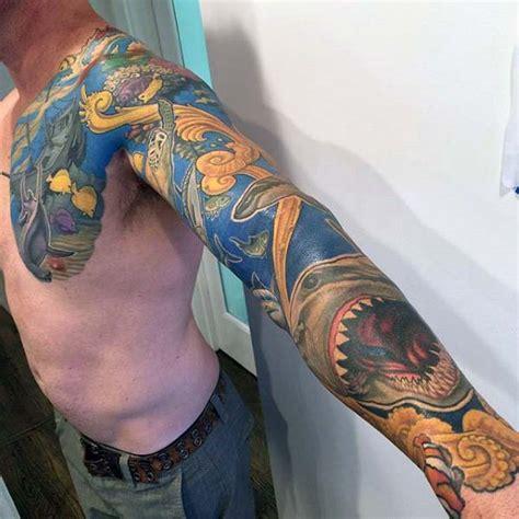 sea sleeve tattoo designs 40 sleeve tattoos for underwater ink design ideas