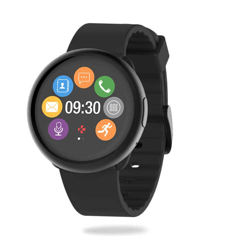 smartwatch with stylish smartwatch with circular color touchscreen