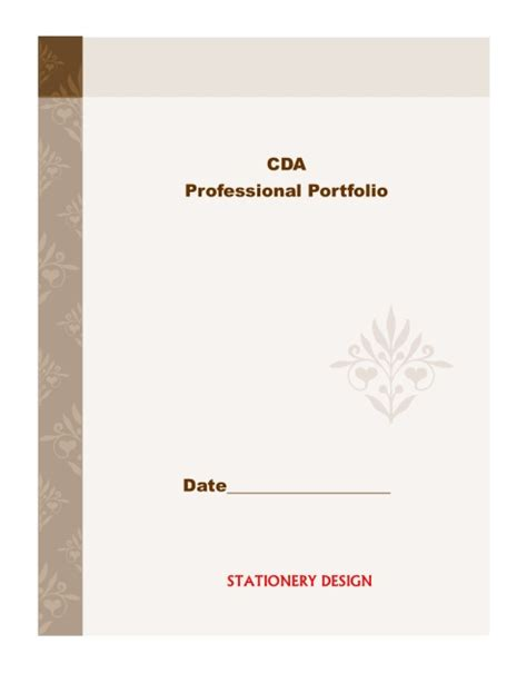 cda portfolio template cda prep binder for infant toddler